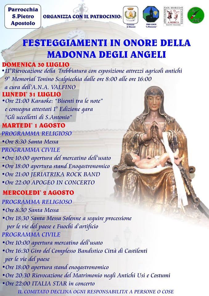 festeggiamenti in onore della madonna degli angeli