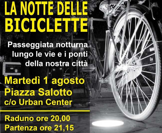 pedaliamo insieme nella notte delle biciclette