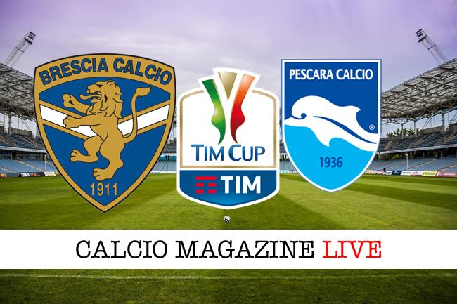 Coppa Italia, Brescia-Pescara 1-3: cronaca e risultato finale