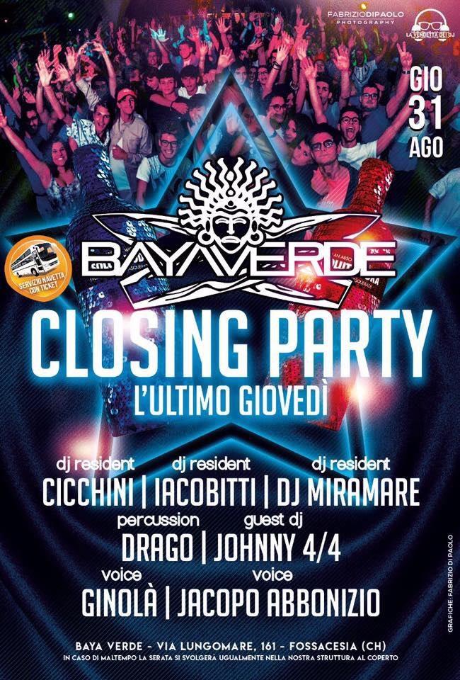 closing party bayaverde