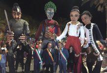 marionette giganti a Roseto