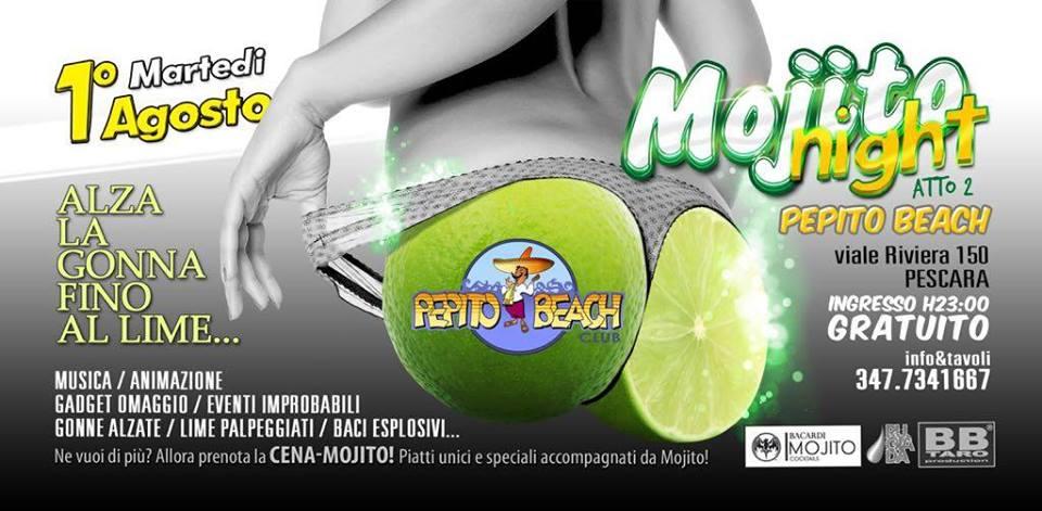 mojito night pepito beach 1 agosto