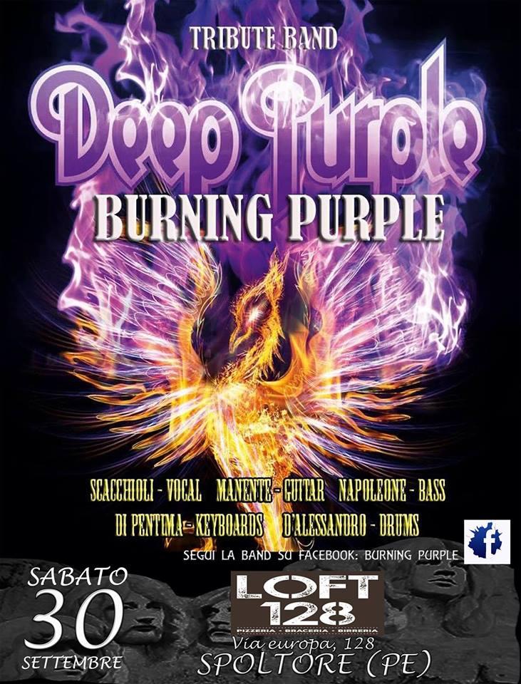 Burning Purple Tribute Deep Purple live 30 settembre 2017