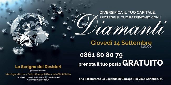 Diamanti seminario 14 settembre 2017