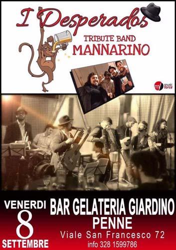 Desperados, tributo a Mannarino in concerto l'8 settembre a Penne (PE)