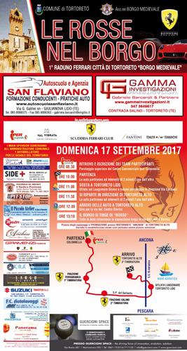 Locandina Raduno Ferrari 2017 a Tortoreto