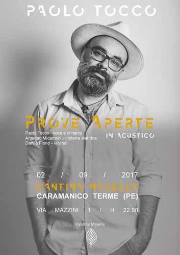 Paolo Tocco in concerto il 2 settembre a Caramanico Terme
