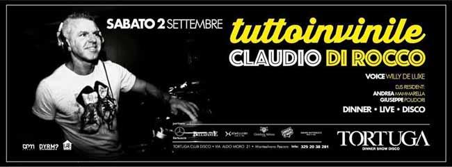 Tortuga, Claudio Di Rocco tutto in vinile il 2 settembre a Pescara