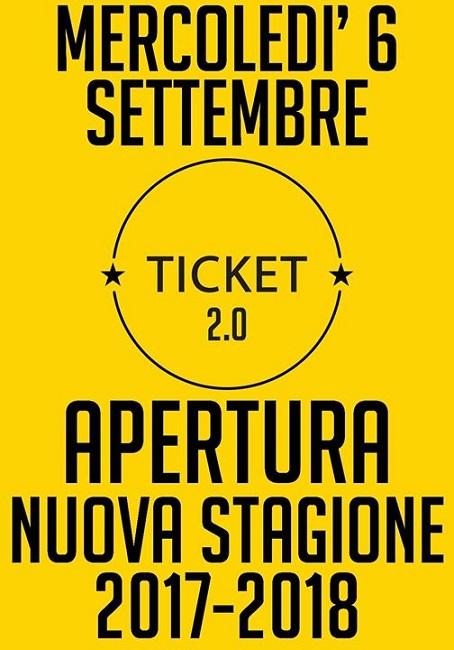 apertura nuova stagione ticket 2.0