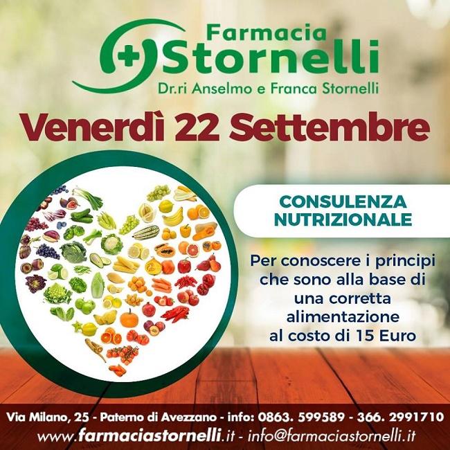consulenza nutrizionale 22 settembre