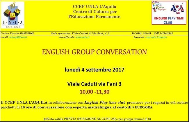 english group conversation