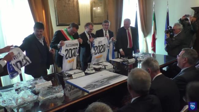 Pescara - Presentato al Comune il progetto completo del nuovo stadio