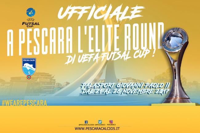 Uefa Futsal Cup dal 21 al 26 novembre torna a Pescara