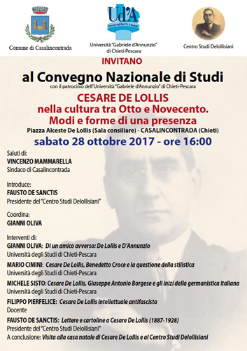 convegno su Cesare Del Lollis