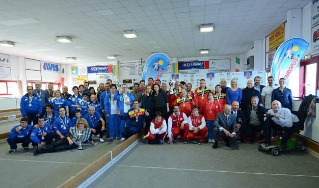 FOTO DI GRUPPO Campionato Nazionale di Bocce per Squadre FISDIR