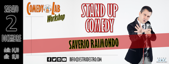 Stand Up Comedy, workshop con Saverio Raimondo il 2 dicembre a Pescara