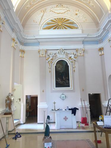 altare restaurato Chiesa San Rocco Vacri
