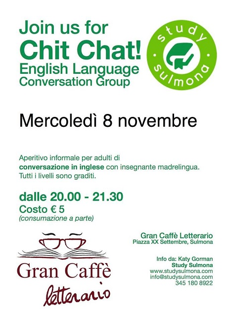 Chit Chat English Language Conversation Group l'8 novembre 2017
