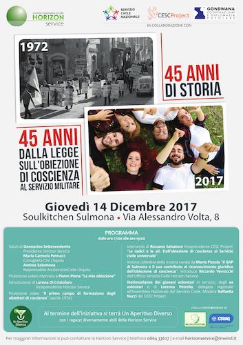 14 anni obiezione di coscienza - Sulmona 14.12.17
