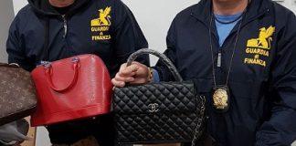 Pescara deposito griffes contraffatte