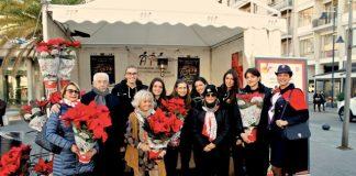 Stelle Ail 2017, foto di gruppo con l'Antoniana nella postazione piazza Salottojpg