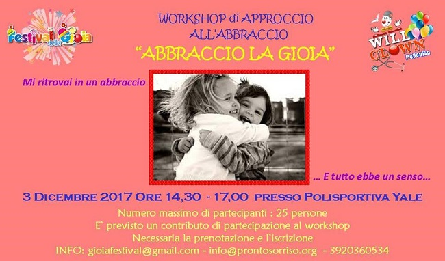 Workshop Abbraccio La Gioia Il 3 Dicembre 2017 A Pescara