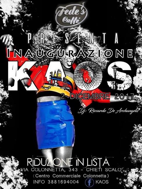 inaugurazione kaos