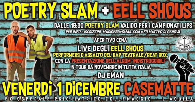 poetry slam eell shous 1 dicembre