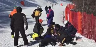L'Aquila grave sciatore diversamente abile