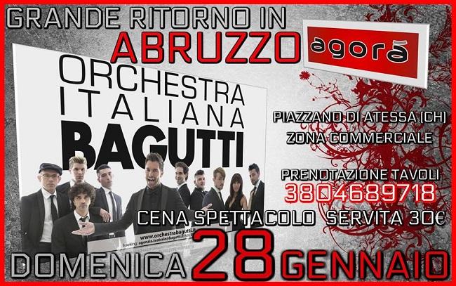 Orchestra Italiana Bagutti Calendario Serate 2019.Cena Spettacolo Con L Orchestra Bagutti All Agora Di Atessa