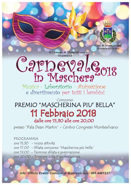 Carnevale in maschera 2018