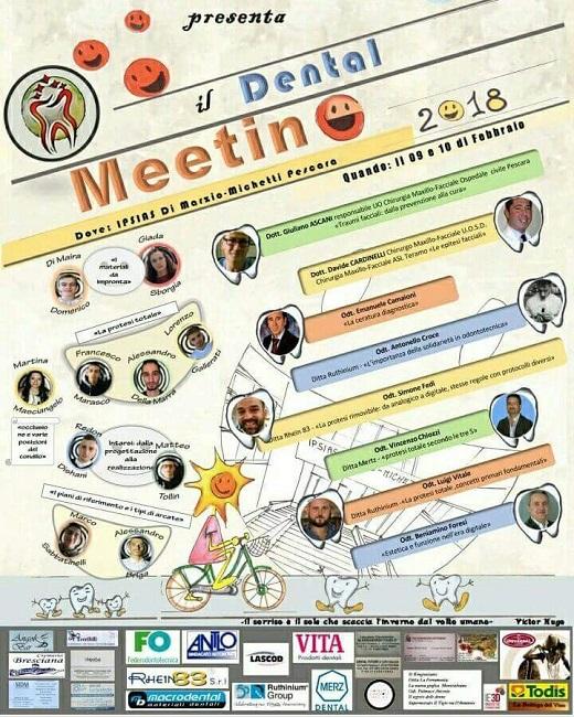 DENTAL MEETING 2018 locandina