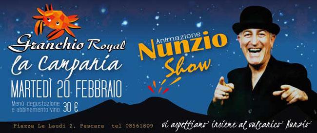 Granchio Royal con Nunzio Show 20 febbraio 2018