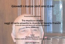 Locandina evento Saverio Franchi