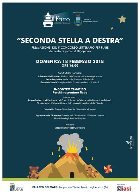 """Roseto, concorso """"Seconda Stella a destra"""": domenica le premiazioni"""