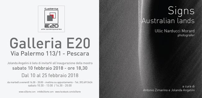 Signs mostra di Ullic Narducci dal 10 al 25 febbraio a Pescara