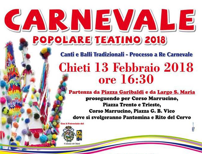 Chieti, corteo Carnevale 2018: limitazioni al traffico
