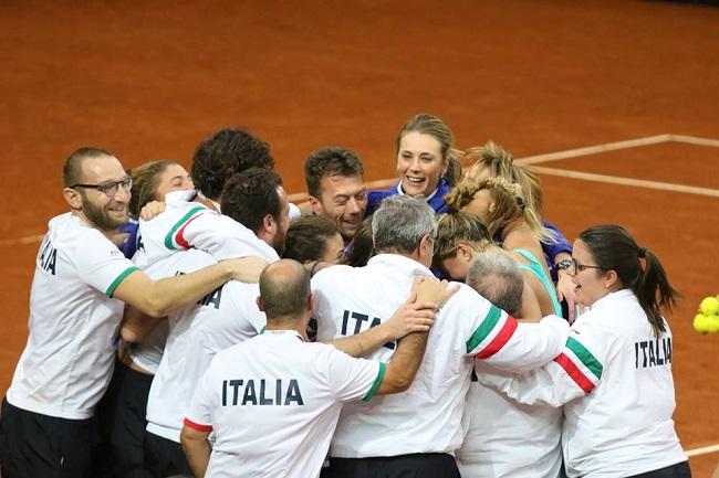 Impresa dell'Italia in Fed Cup a Chieti