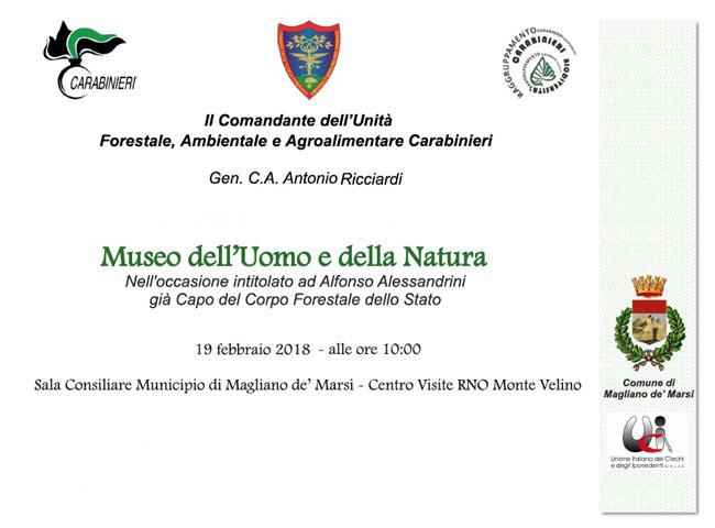 Magliano de' Marsi, Museo dell'Uomo e della Natura: il 19 febbraio l'inaugurazione