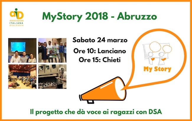 My Story 2018 in Abruzzo per dar voce ai ragazzi dislessici