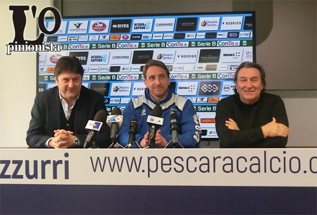 Pescara - Parma: Epifani e D'Aversa a fine partita