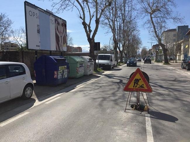 lavori su viale Pindaro