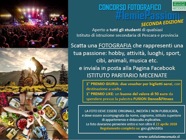 2° Concorso fotografico per studenti: a Pescara #lemiepassioni