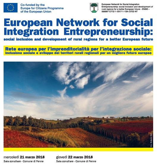 Rete Europea per l'impresa sociale: meeting a Penne
