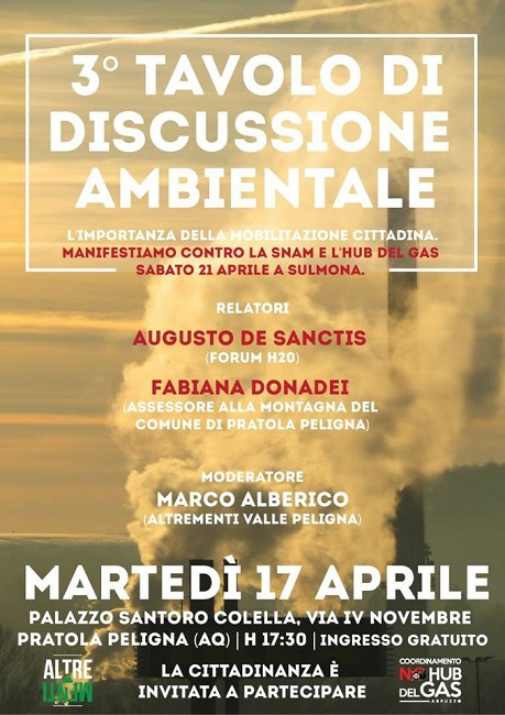 3° Tavolo di discussione ambientale a Pratola Peligna