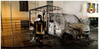 bisenti furgone bruciato