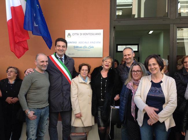 inaugurazione nuovo centro sociale anziani Montesilvano