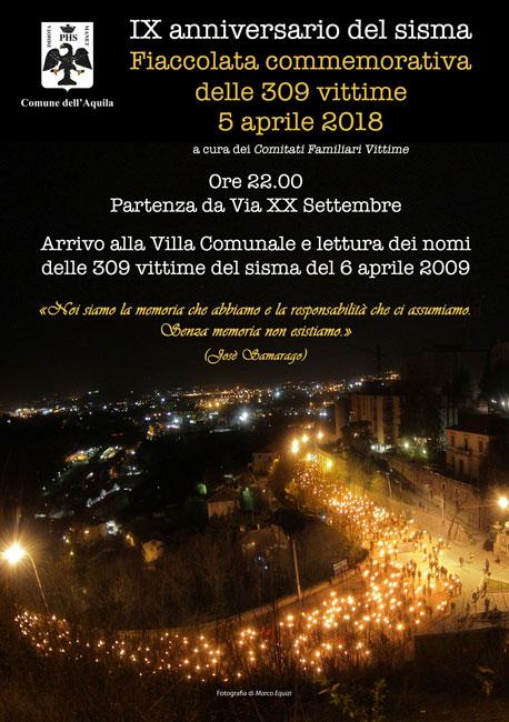 L'Aquila IX anniversario sisma