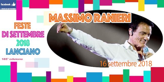 Massimo Ranieri concerto Lanciano 16 settembre 2018