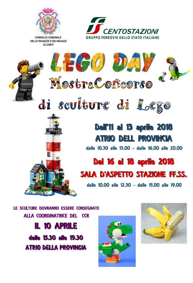 Mostra - concorso sculture con mattoncini Lego domani a Chieti